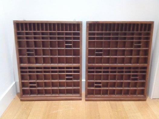 Coppia cassetti tipografo porta oggetti bakeca parma for Arredamento usato parma